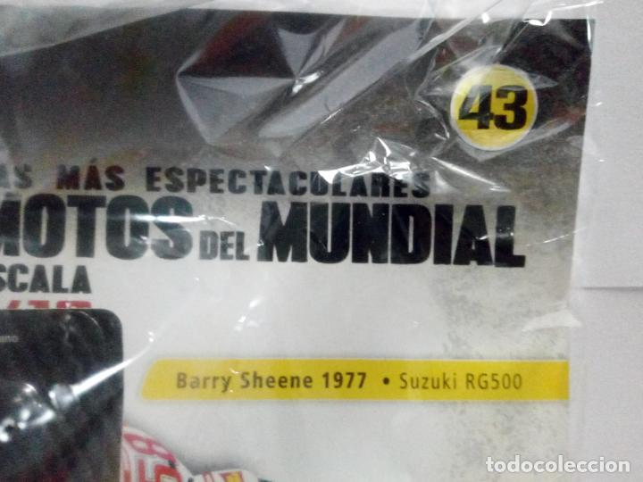 Motos a escala: MOTO SUZUKI RG500 BARRY SHEENE 1977 + FASCÍCULO 43 MOTOGP ALTAYA DEAGOSTINI ESCALA 1:18 RG 500 - Foto 4 - 247171940
