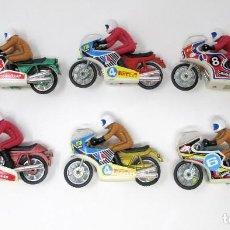 Motos a escala: LOTE DE 6 MOTOS CON MOTORISTA ORIGINALES DE LOS AÑOS 70 DE LA CASA MIRA.. Lote 205552570
