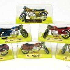 Motos a escala: LOTE 6 MOTOS DE LA CASA MIRA, ORIGINALES AÑOS 70. DUCATI, BENELLI, BMW, LAVERDA, SUZUKI, MOTO GUZZI.. Lote 205697875