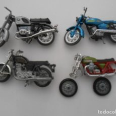 Motos a escala: LOTE 4 MOTOS ANTIGUAS NORTON BMW YAMAHA GUZZI MADE IN SPAIN BIKE MOTOR BIKE. Lote 207223211