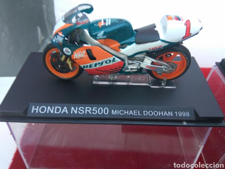 Motos a escala: MOTO HONDA 500 A ESCALA DOOHAN-ELIAS-BARROS LOTE DE 3 - Foto 2 - 209793013