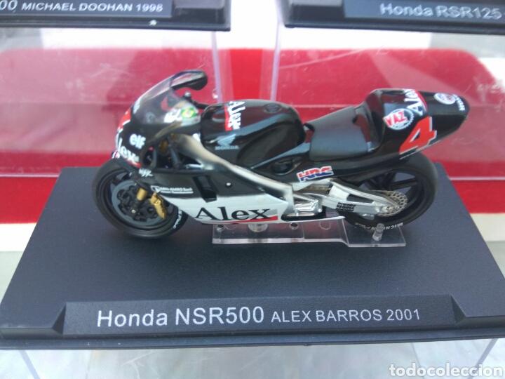 Motos a escala: MOTO HONDA 500 A ESCALA DOOHAN-ELIAS-BARROS LOTE DE 3 - Foto 4 - 209793013