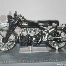 Motos a escala: -VINCENT HRD BLACK SHADOW -1954 -1/24+ FASCÍCULO CON LA HISTORIA DE LA MARCA. Lote 212928363