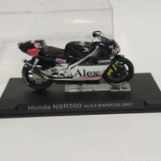 Motos a escala: MOTO HONDA NSR500 ALEX BARROS, WEST 2001. Lote 215304040