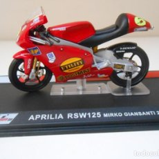 Motos in scale: MOTO APRILIA RSW125 MIRKO GUANSANTI 2004 1/24 1:24 BIKE MOTORBIKE MOTOCICLETA. Lote 217325668