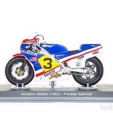 Motos a escala: MOTO GP 1983 - FREDDIE SPENCER - HONDA NS500 (ESCALA 1:18). Lote 218615318