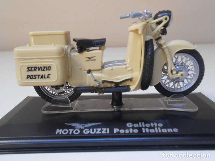 MOTO GUZZI GALLETO POSTE ITALIANA 1/24 1:24 BIKE MOTORBIKE GUZI CORREOS CARTERO (Juguetes - Motos a Escala)