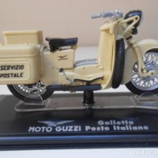 Motos in scale: MOTO GUZZI GALLETO POSTE ITALIANA 1/24 1:24 BIKE MOTORBIKE GUZI CORREOS CARTERO. Lote 218678153