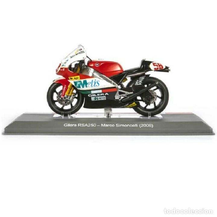 GILERA RSA250 MARCO SIMONCELLI 2008 1:18 IXO SALVAT DIECAST MOTO GP (Juguetes - Motos a Escala)