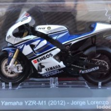 Motos a escala: MOTO GP 2012 - JORGE LORENZO - YAMAHA YZR M1 - IXO, ALTAYA / N3 (ESCALA 1:18). Lote 240517225