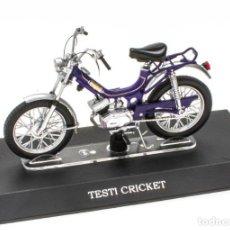 Motos a escala: TESTI CRICKET MOBYLETTE COLLECTION 1/18 LEO MODELS. Lote 221368843