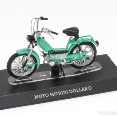 Motos in scale: MOTO MORINI DOLLARO MOBYLETTE COLLECTION 1/18 LEO MODELS. Lote 221368916