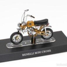 Motos a escala: BENELLI MINI CROSS MOBYLETTE COLLECTION 1/18 LEO MODELS. Lote 221368928