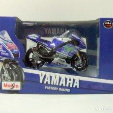 Motos a escala: MOTO YAMAHA FACTORY RACING NO. 99 JORGE LORENZO - MAISTO ESCALA 1:18 MOTOGP GP MOVISTAR MOTOCICLISMO. Lote 221448813