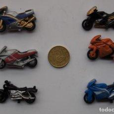 Motos a escala: LOTE DE 6 MOTOS EN MINIATURA DE METAL -2,5X4,5 CTM. Lote 221952261
