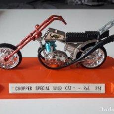 Motos a escala: CHOPPER SPECIAL WILD CAT REF. 274- GUILOY EN CAJA. Lote 222565605