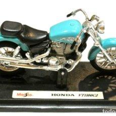 Motos a escala: MOTOCICLETA HONDA VT1100C2 ,EDICIÓN MAISTO, CON PEANA BASE, 1:18, 1/18 , NO A SIDO RODADA. Lote 223102925