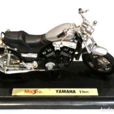Motos a escala: MOTOCICLETA YAMAHA VMAX ,EDICIÓN MAISTO, CON PEANA BASE ,1:18 , 1/18, NO A SIDO RODADA. Lote 223103656