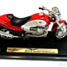 Motos a escala: MOTOCICLETA MOTO GUZZI V10 CENTAURO ,EDICIÓN MAISTO, CON PEANA BASE ,1:18, 1/18 , NO A SIDO RODADA. Lote 223107350