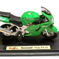 Motos a escala: MOTOCICLETA KAWASAKI NINJA ZX-12 , EDICIÓN MAISTO, CON PEANA BASE ,1:18, 1/18, NO A SIDO RODADA. Lote 223110128