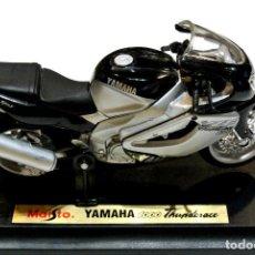 Motos a escala: MOTOCICLETA YAMAHA 1000 THUNDERACE , EDICIÓN MAISTO, CON PEANA BASE ,1:18, 1/18 , NO A SIDO RODADA. Lote 223120412