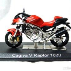 Motos a escala: MOTOCICLETA CAGIVA V RAPTOR 1000, ESCALA 1:24 , 1/24 , ALTAYA, NUNCA A SIDO RODADA. Lote 223300927