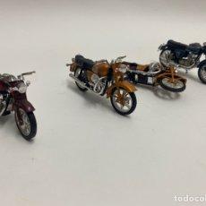 Motos a escala: LOTE DE 4 MOTOS METAL KAWASAKI 900. GUZZI 850 GT. HONDA 750 TOUR.. Lote 224072283