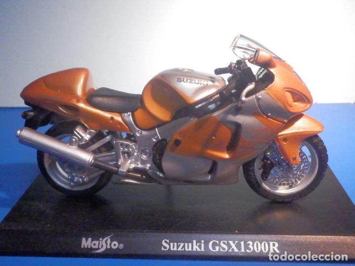 MOTO - MINIATURA A ESCALA - SUZUKI GSX1300R - COBRE - ESCALA 1.18 - CON PEANA - MAISTO (Juguetes - Motos a Escala)