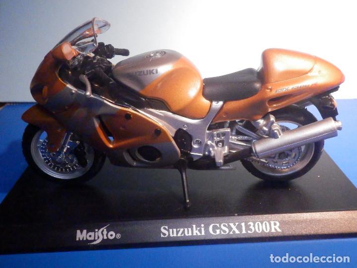 Motos a escala: MOTO - MINIATURA A ESCALA - Suzuki GSX1300R - Cobre - ESCALA 1.18 - Con PEANA - Maisto - Foto 2 - 226200390