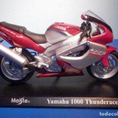 Motos a escala: MOTO - MINIATURA A ESCALA - YAMAHA 1000 THUNDERRACE - ESCALA 1.18 - CON PEANA - MAISTO. Lote 276580493