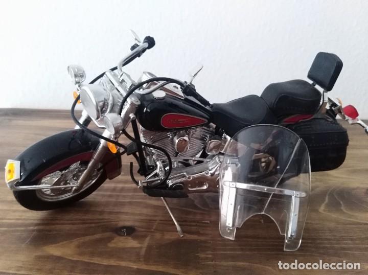 MOTO ESCALA 1:18 GULOY AMERICAN CUSTOM CLASSIC MAQUETA NO HARLEY MOTERO (Juguetes - Motos a Escala)