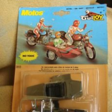 Motos in scale: MOTO SIDE - SIDE CAR - GUZZI MILITAR - GUILOY. Lote 231225595