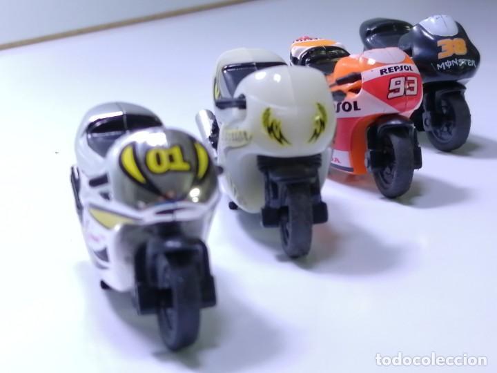4 MICROMOTOS RUEDA DE INERCIA- MOTO GP - REPSOL - STSNLEY MONSTER - WARRIOR (Juguetes - Motos a Escala)