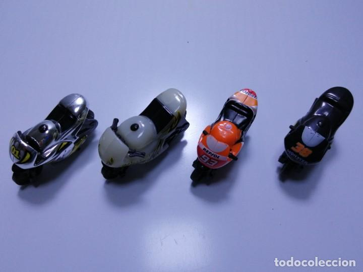 Motos a escala: 4 MICROMOTOS RUEDA DE INERCIA- MOTO GP - REPSOL - STSNLEY MONSTER - WARRIOR - Foto 3 - 228518540