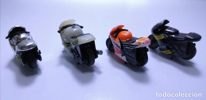 Motos a escala: 4 MICROMOTOS RUEDA DE INERCIA- MOTO GP - REPSOL - STSNLEY MONSTER - WARRIOR - Foto 4 - 228518540