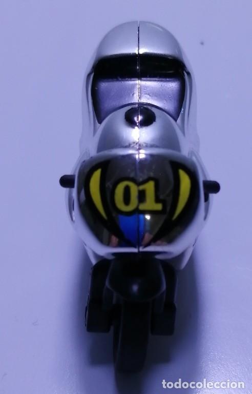 Motos a escala: 4 MICROMOTOS RUEDA DE INERCIA- MOTO GP - REPSOL - STSNLEY MONSTER - WARRIOR - Foto 21 - 228518540