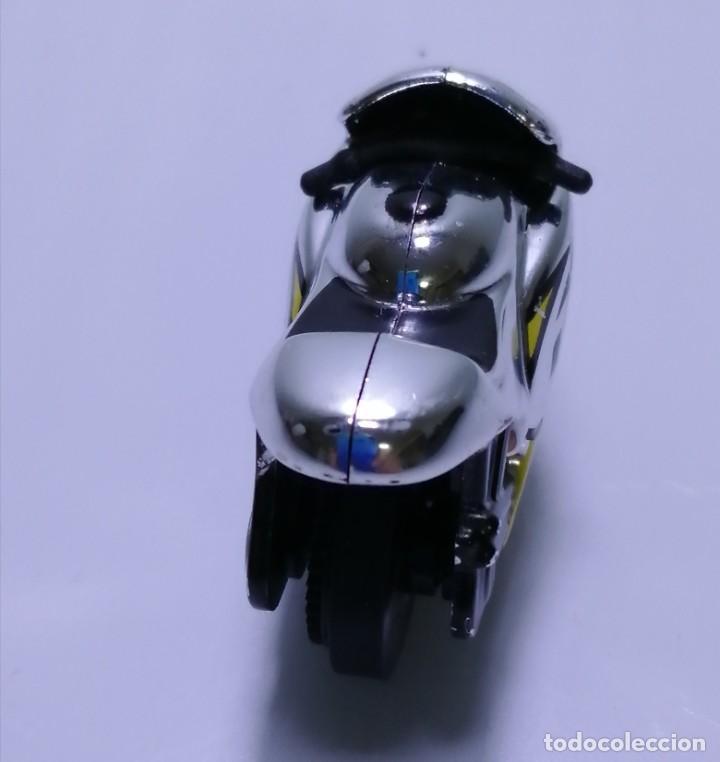 Motos a escala: 4 MICROMOTOS RUEDA DE INERCIA- MOTO GP - REPSOL - STSNLEY MONSTER - WARRIOR - Foto 22 - 228518540