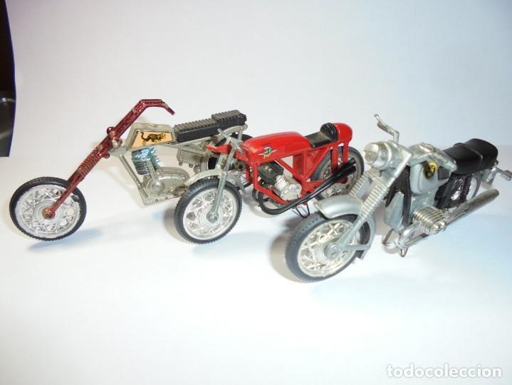 MAGNIFICAS TRES MOTOS ANTIGUAS (Juguetes - Motos a Escala)