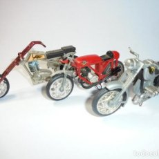 Motos a escala: MAGNIFICAS TRES MOTOS ANTIGUAS. Lote 234123595