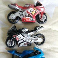 Motos a escala: LOTE DE 3 MOTOS MODELISMO (13 CENTIMETROS). Lote 236778555