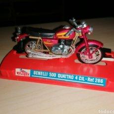 Motos a escala: ANTIGUA MOTO A ESCALA GUILOY - BENELLI 500 QUATTRO 4 CIL. - NUEVA¡¡. Lote 239842515