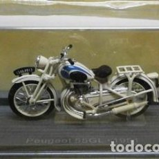 Motos in scale: MOTO METALICA A ESCALA. PEUGEOT 55 GL. 1951. MOTO-03. Lote 241027445