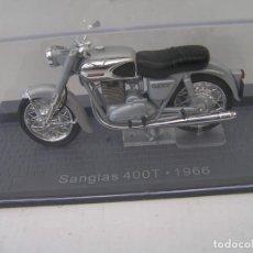 Motos a escala: MOTO CLASICA MARCA: SANGLAS . MODELO 400 T (AÑO 1966) ESCALA 1/24 - CON SU URNA - NUEVA - ALTAYA. Lote 241155130