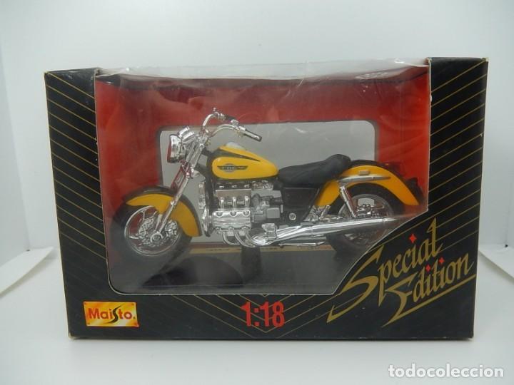 Motos a escala: Moto / Motocicleta. Honda F6C. Maisto. Escala 1:18. - Foto 6 - 241427840