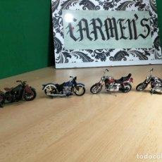 Motos a escala: CUATROS BONITAS MOTOCICLETAS HARLEY DAVIDSON DE MAISTO MUY COLECCIONABLES. Lote 242014655