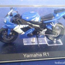 Motos a escala: YAMAHA R1 (2002) - ESC 1:24 *ALTAYA* EN CAJA COLECCION GRANDES MOTOS DE COMPETICION. Lote 243793270