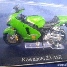 Motos a escala: KAWASAKI ZX 12R ESC 1:24 *ALTAYA* EN CAJA COLECCION GRANDES MOTOS DE COMPETICION. Lote 243843410