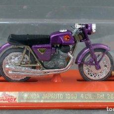 Motos a escala: MOTO HONDA GUILOY JAPAUTO 1000 REF 285 NUEVA EN CAJA CON CATÁLOGO. Lote 244547050