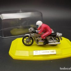 Motos a escala: MOTO LAVERDA CON SIDECAR 1200 REF. 2302, DE MIRA, EN CAJA.. Lote 244669190