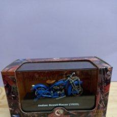 Motos a escala: INDIAN SCOUT-RACER (1929) ESCALA 1:32 NUEVO SIN USO EN SU CAJA. Lote 245084480